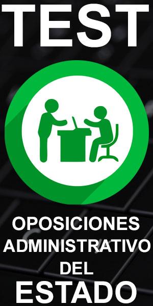 test oposiciones administrativo administracion del estado